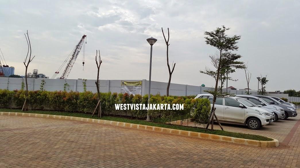 Parkiran Kantor Marketing Apartemen West Vista Jakarta
