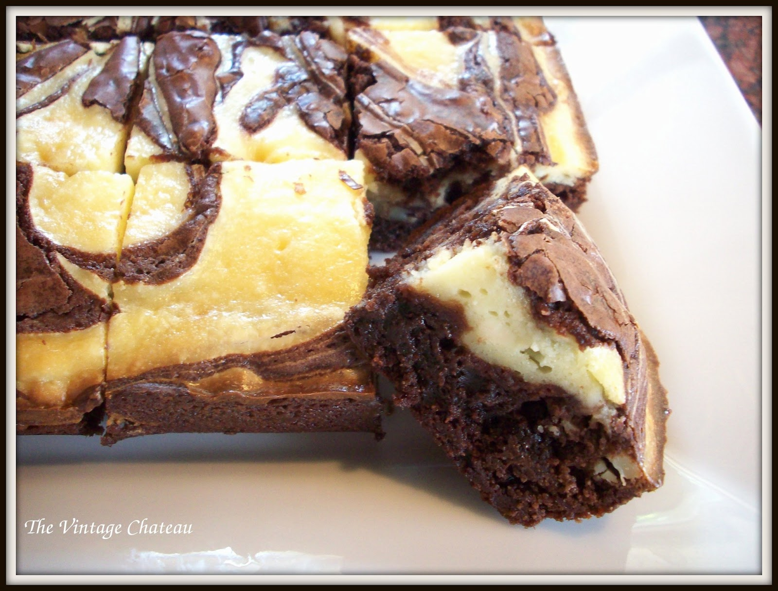 The Vintage Chateau: Cream Cheese Brownies