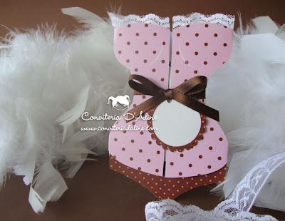 convite corpete rosa marrom cha lingerie