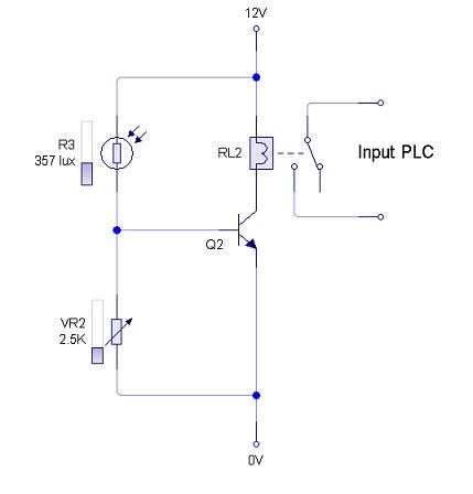 Rangkaian Sensor Intensitas Cahaya Matahari Menggunakan LDR Sebagai Inputan PLC