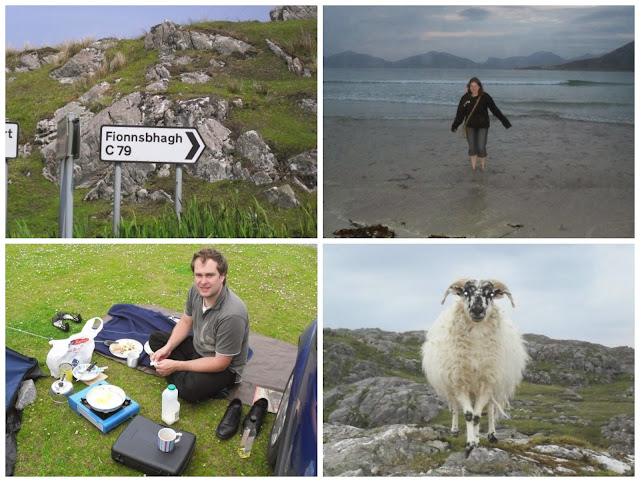 A Scottish 'C' Road, Paddling in Luskentyre, Cooking Breakfast and an Isle of Harris Sheep