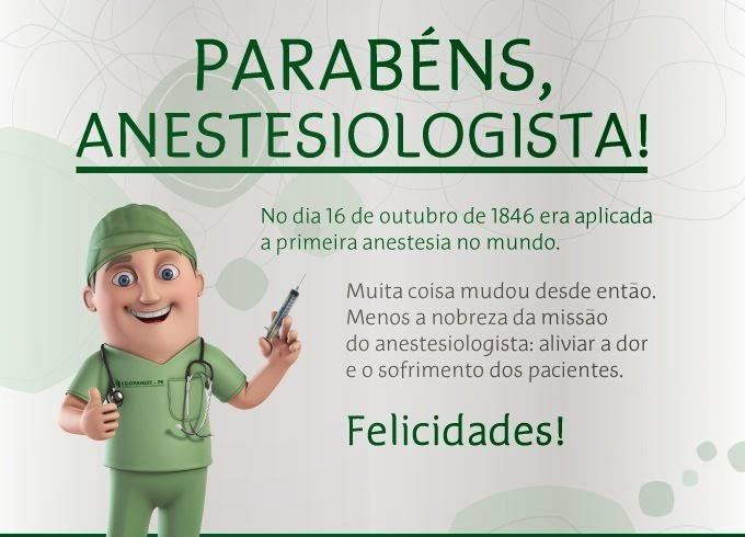 Dia do Anestesiologista-16 de Outubro