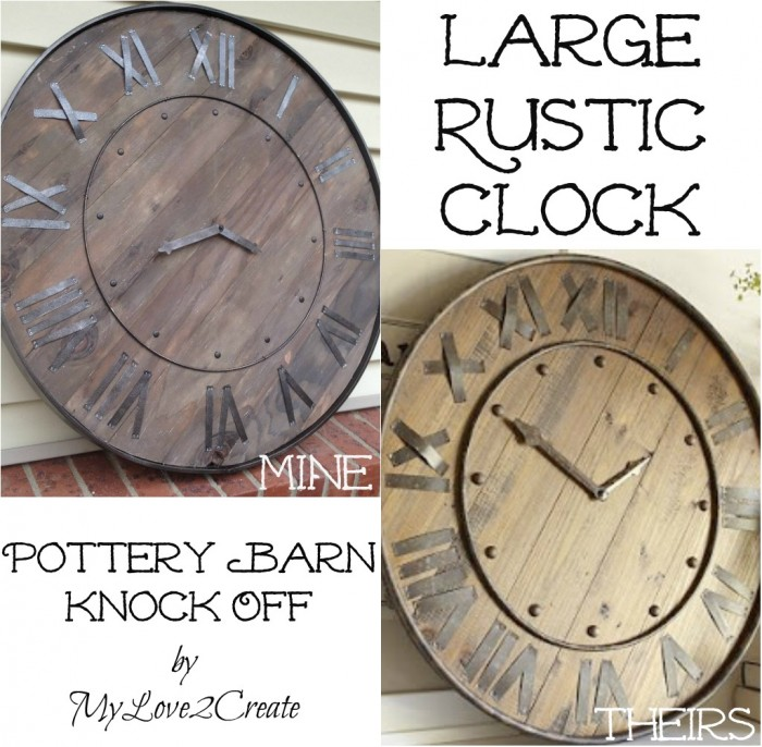 Build this amazing Pottery Barn Knock off Clock for your home!!  Great DIY Tutorial you don't want to miss!