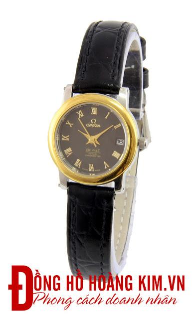Đồng hồ nữ dây da giá rẻ trên 500 nghìn omega