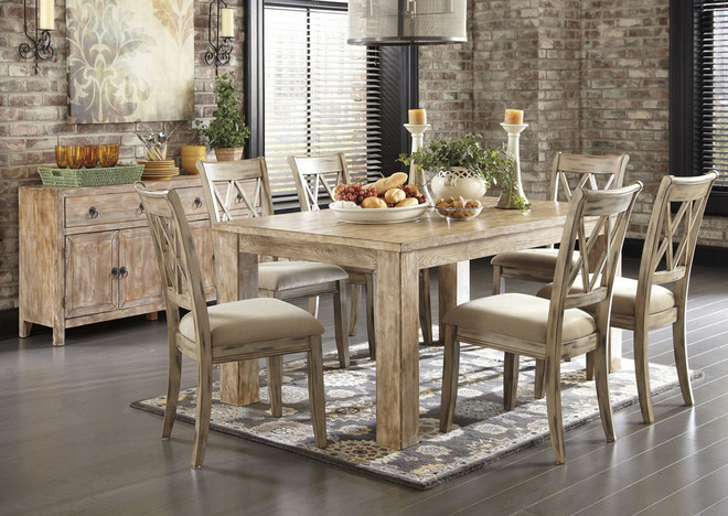 Antique White Dining Room Furniture Set Rustic Design Ideas With