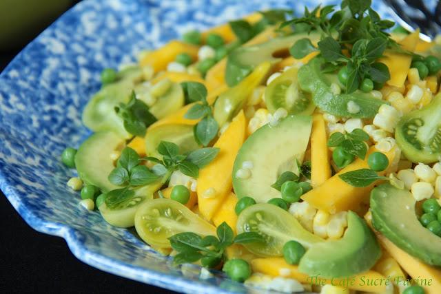 to Summer ………. Fresh Corn, Avocado & Mango Salad w/ Citrus ...