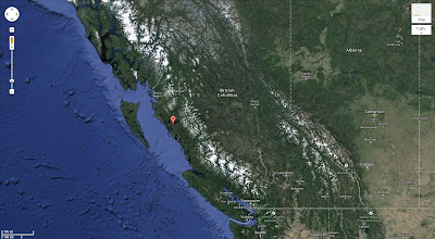 Map Location of Barnard Harbour in British Columbia