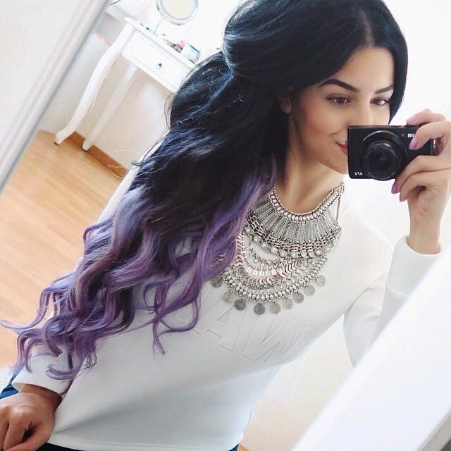 black and purple dip dye hair wwwpixsharkcom images