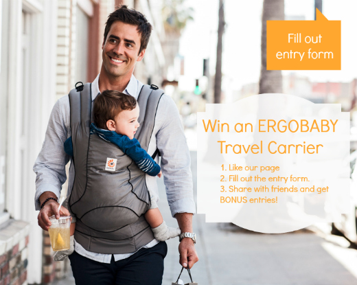 A cuppa for my thoughts giveaway win an ergo travel for Daddy carrier