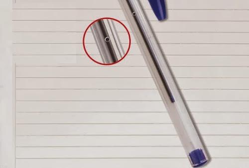 Saiba para quer serve o furo na lateral da caneta
