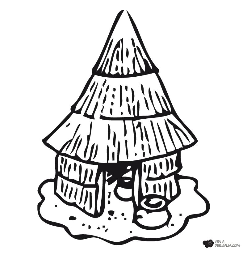 Como dibujar una choza  Imagui