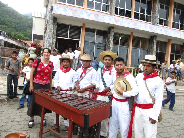 Playing marimbas