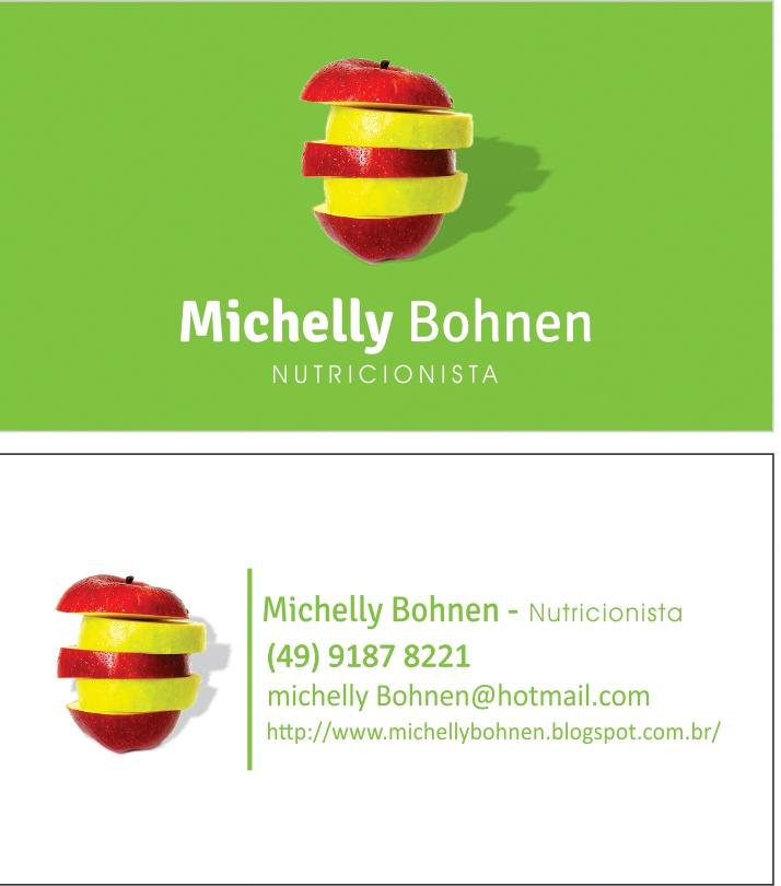 Muito Michelly Bohnen: Cartão de Visita - Michelly Bohnen KN51