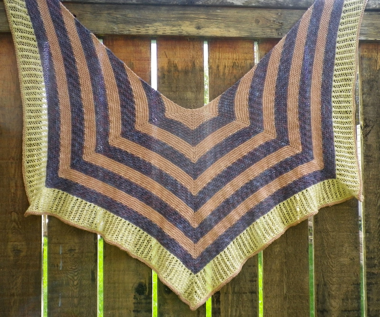 Rafu-Sen Shawl - Susan Elizabeth of Crescent Moon Collective