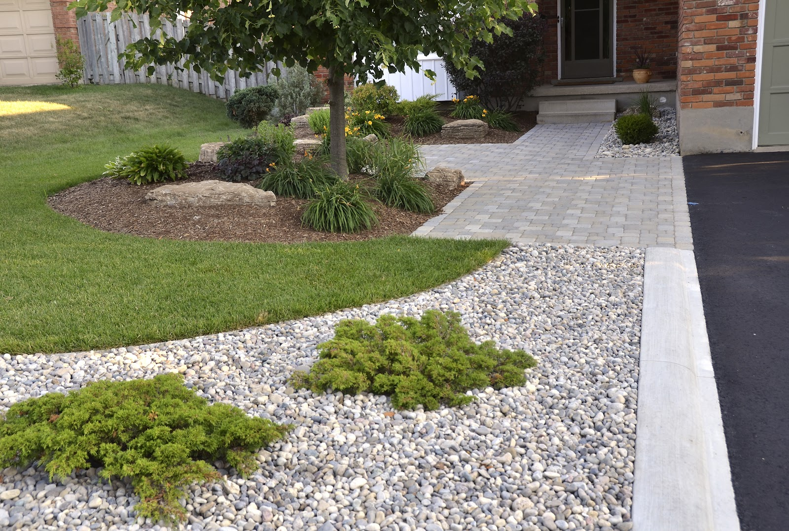 Landscaping With Curb Appeal Before And After Front Yard