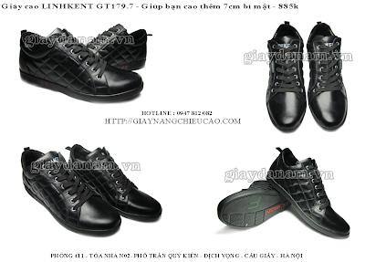 Giày nam cao Linh Kent GT179. 7