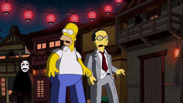 Os Simpsons homenageiam Hayao Miyazaki