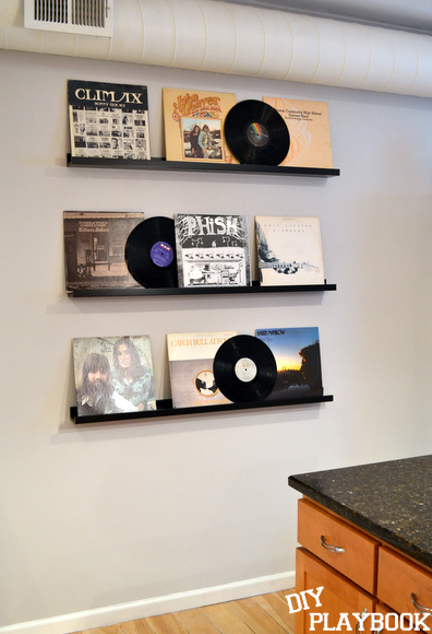 Record Wall: Vinyl Record Storage: Gift for my Brother | DIY Playbook