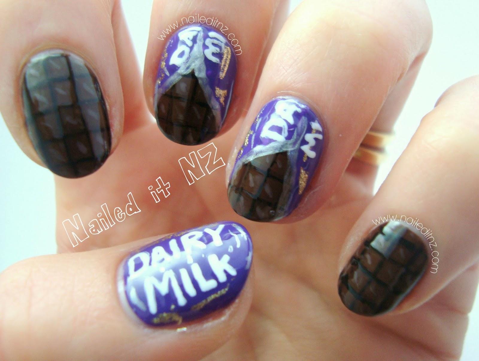 Cadbury Dairy Milk Chocolate Nails My Cadbury Dream