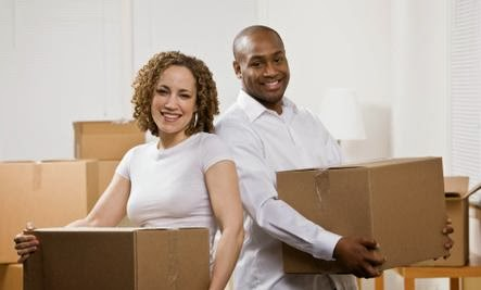 4 Things I Have Changed for My Wife   - man woman move in together packing black white