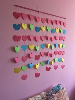 Mi casa es mi hogar cortina de corazones for Habitacion 14 de febrero