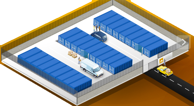 Self stockage tendance la hausse des containers for Prix case container