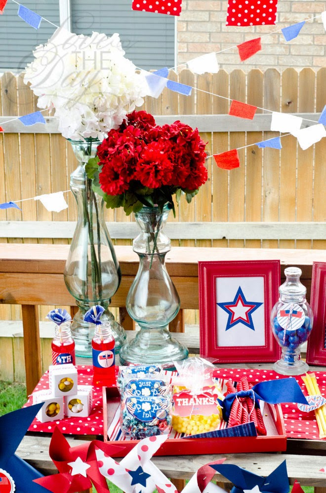 4th Of July party table Love The Day