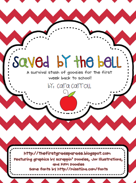 http://www.teacherspayteachers.com/Product/Saved-By-The-Bell-First-Week-Survival-Stash-of-Goodies-282595