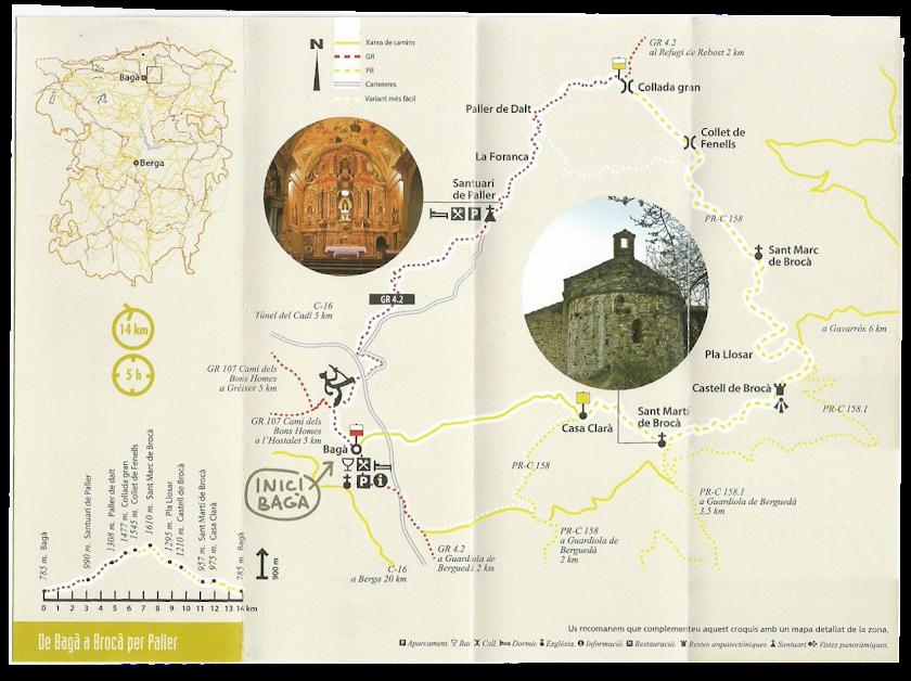 ruta de Bagà a Brocà per Paller