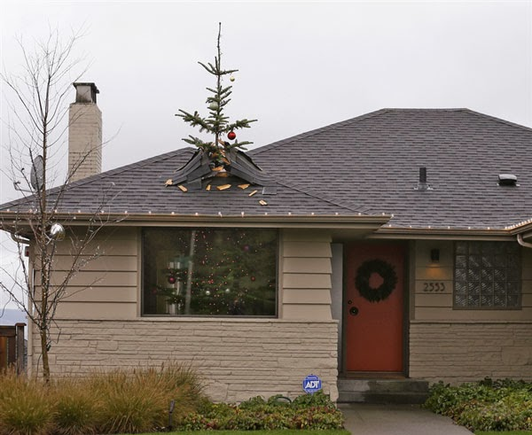 Christmas tree that fits a small house