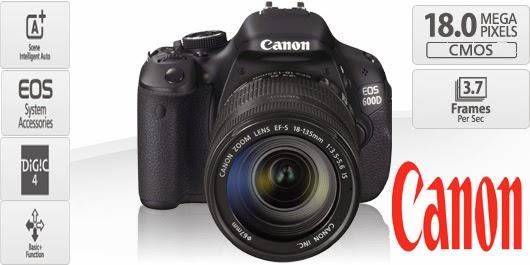 Kamera Canon EOS 600D Kit 18-55mm