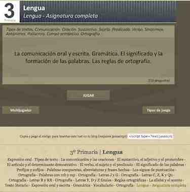 TEST Lenguaje 3º, Asignatura completa