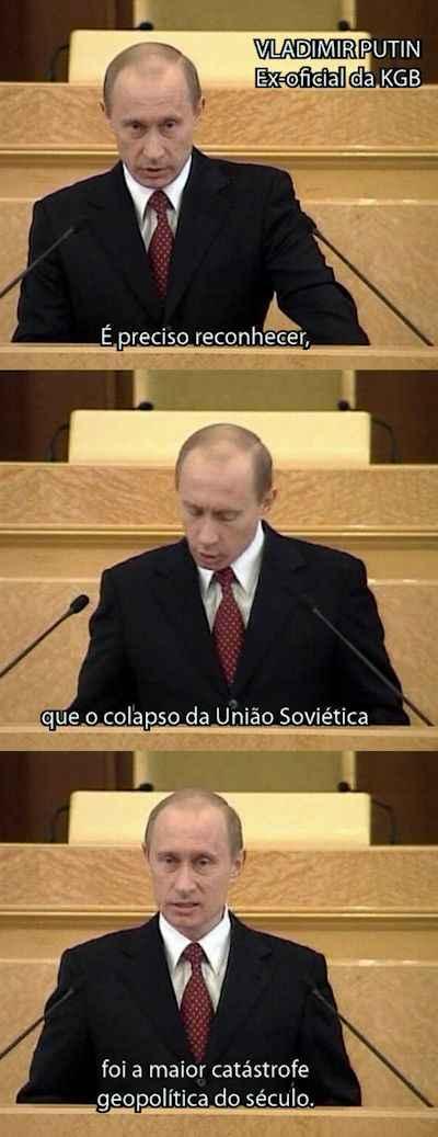 Putin: o colapso da URSS foi a maior catástrofe geopolítica do século XX.