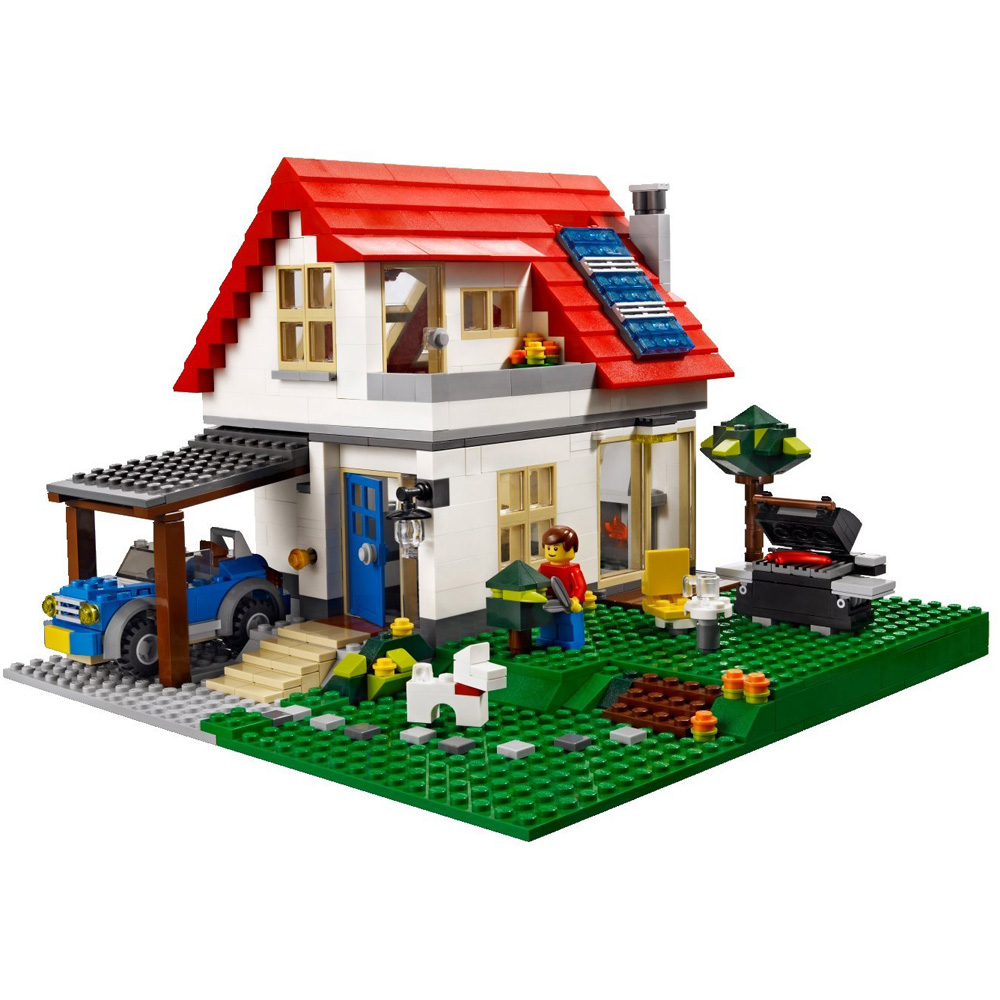 Lego creator hillside house 5771 my lego style for Build your dream house
