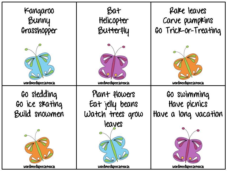 Word Nerd Speech Teach: All Things Butterflies!