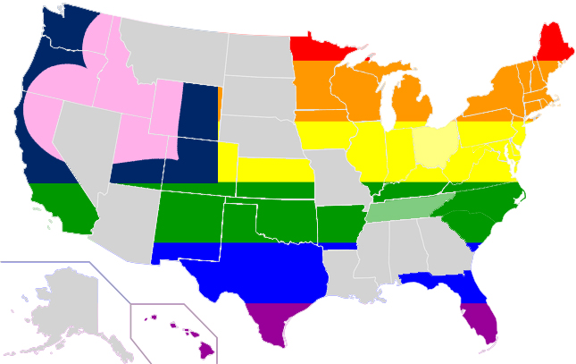 Same Sex Marriage Map August 2014