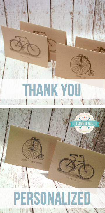 Bicycle Note Cards | iloveitall.etsy.com