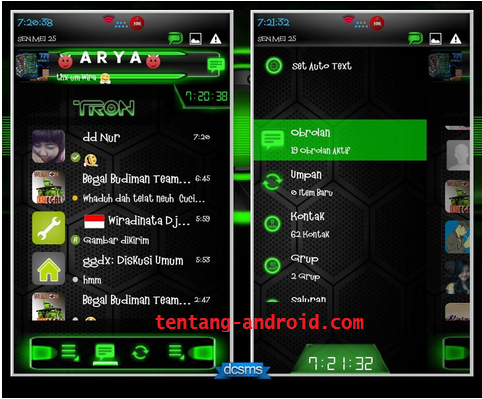 Droid Chat v2.9.0.21 Tron Legacy Special Series Green Apk