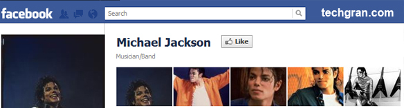 Michael Jackson on Facebook,Musician/Band