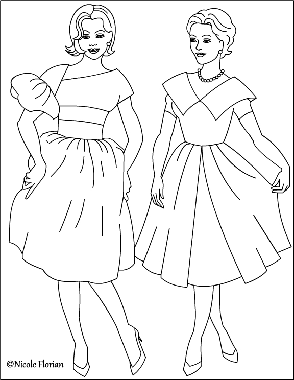 Nicole S Free Coloring Pages Vintage Fashion Coloring Pages Fashionable Coloring Pages 2