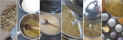 Zubereitung Walnuss-Karamell-Muffins mit Ahornsirup