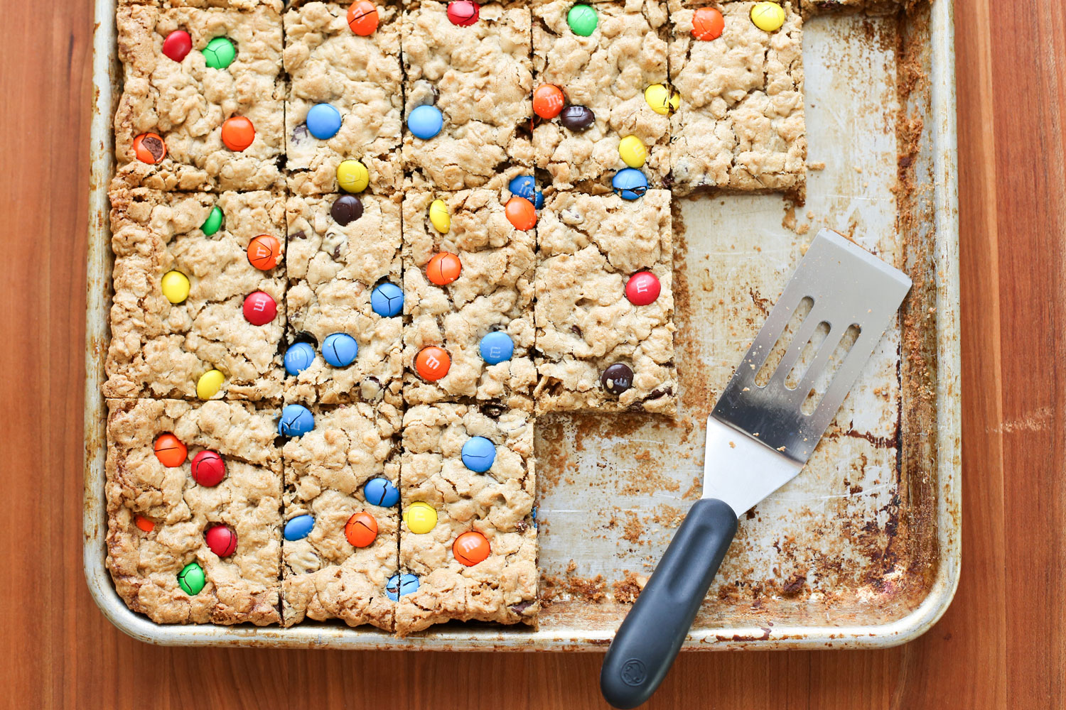 EASY Monster Cookie Bars (naturally gluten free) recipe by Barefeet In The Kitchen