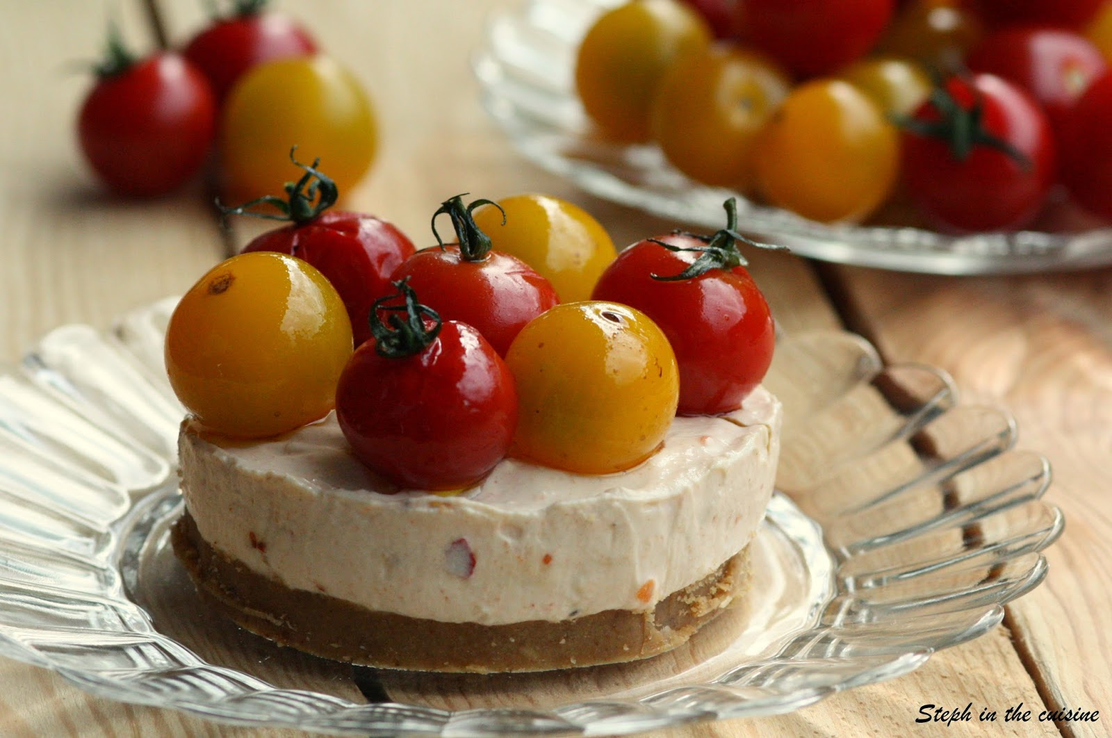 Exceptional Cheesecake Sale Sans Cuisson #6: Cheesecakes Salés Sans Cuisson U0026 Tomates Marinées