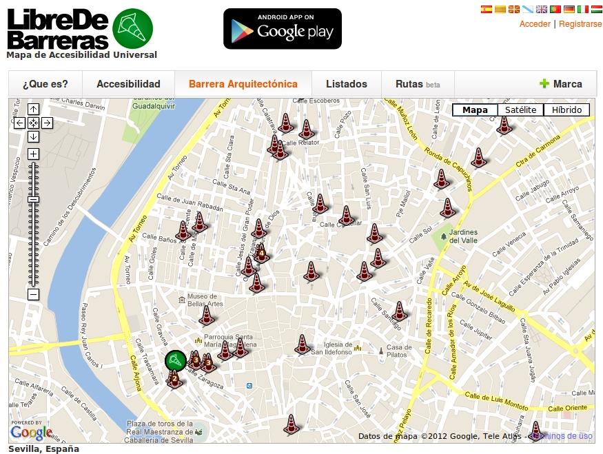 el mapa de sevilla:
