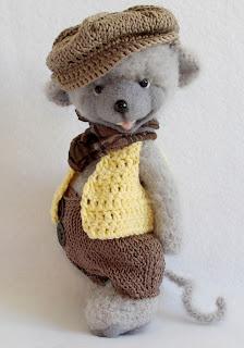мышь, друзья тедди, авторские игрушки,  игрушки ручной работы