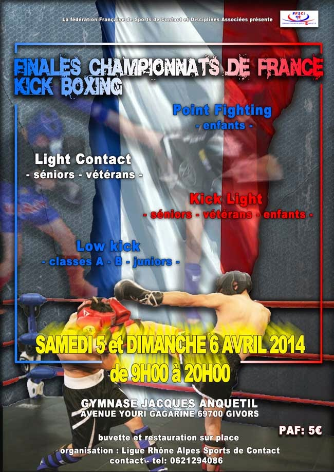 Givors France  city pictures gallery : Agenda... Championnat de France KICK LIGHT.