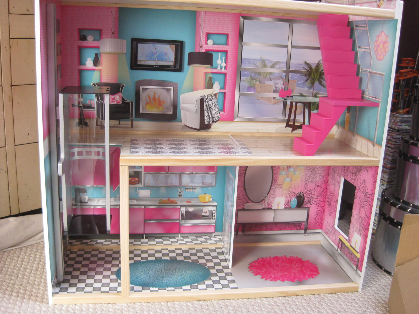 Large and in charge so i built my first dollhouse last week for Diy home elevator plans