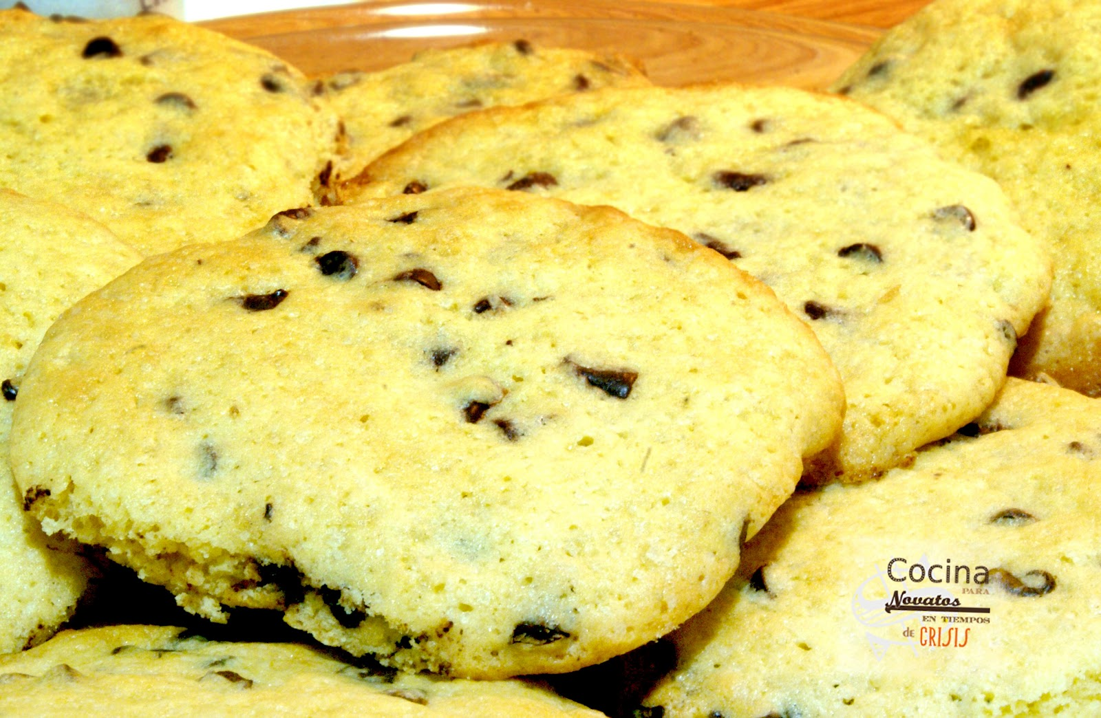 Cocina para novatos en tiempos de crisis cookies con chispas de chocolate - Cocina para novatos ...