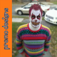 Scary Clown Face Paint by Premo Designs