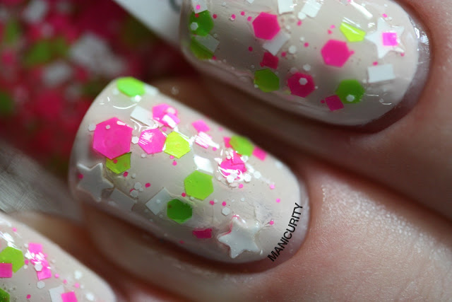 Manicurity | Trelly's M.I.S.C Polish Summer 2013 Collection - Barbie Dream House over Orly Pure Porcelain